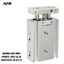 SMC Type Dual Rod Cylinder Basic TYPE double cylinder / shaft CXSM20-25 CXSM20-30 CXSM20-35 -Z73 -Y59A