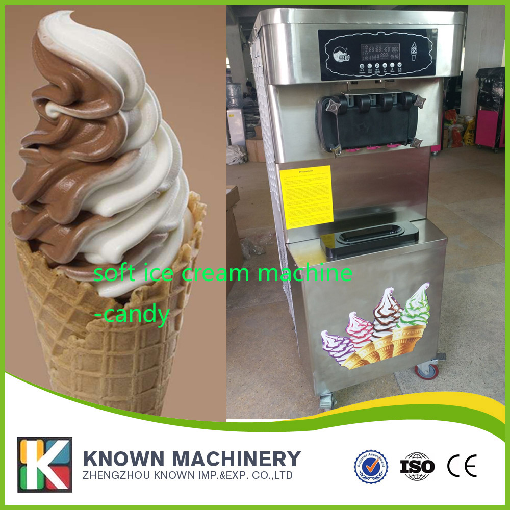 free standing electric soft ice cream maker machine for commercial kitchen restaurant hotel