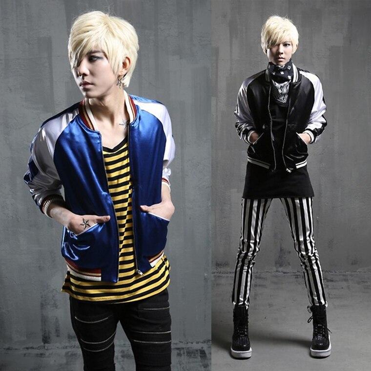 Buy 2017 Winter Men Korean Style Casual Jacket Mens Slim Fashion College Class Hiphop Jacket Coat bomber jacket