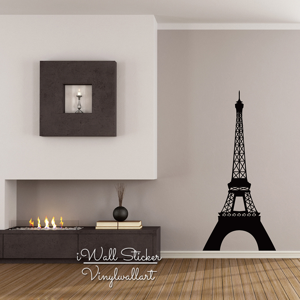 Pairs Tower Wall Sticker Modern Eiffel Tower Wall Decals Modern Tower DIY Easy Wall Art Removable Wall Decors Cut Vinyl M3 in Wall Stickers from Home Garden