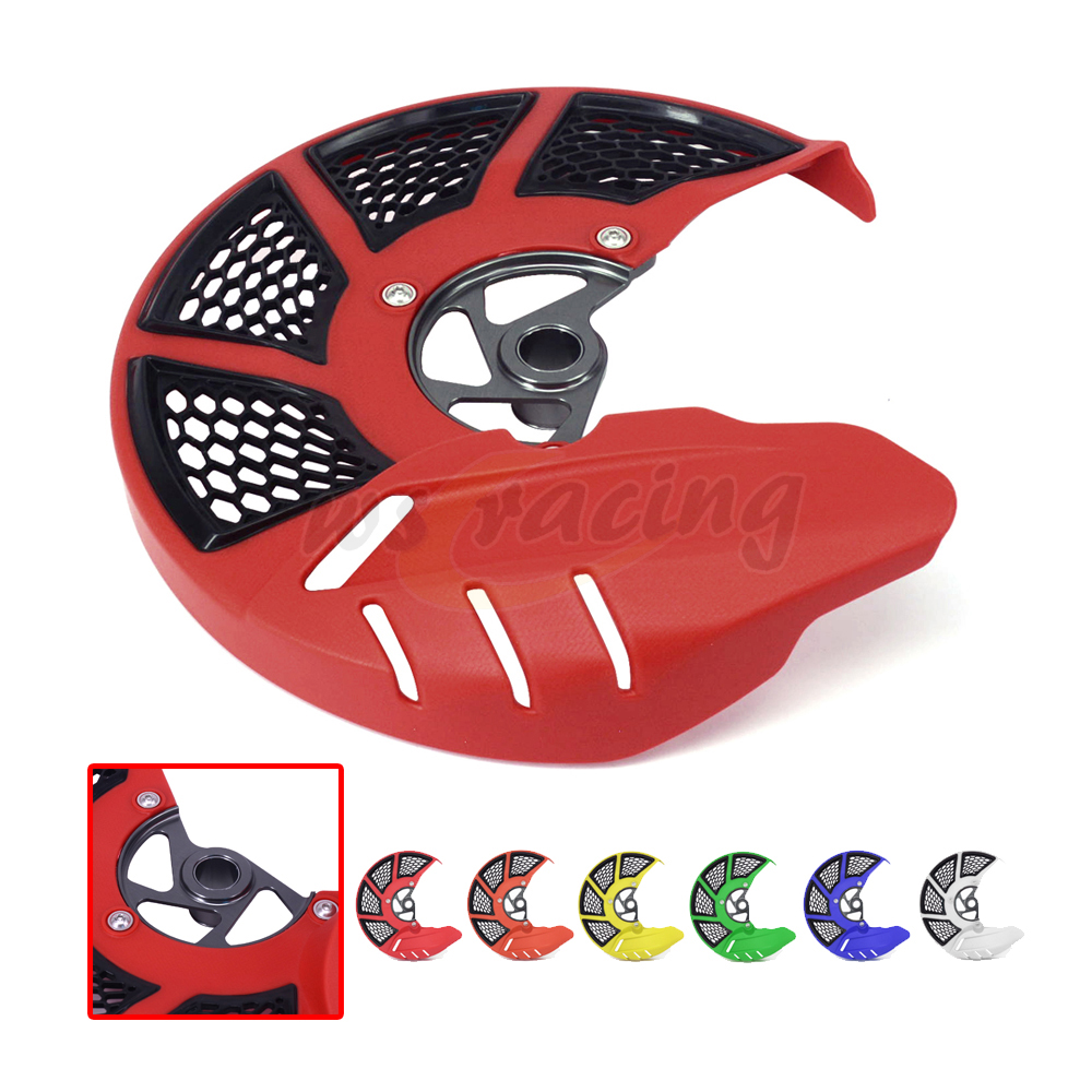 Front Brake Disc Rotor Guard Cover Protector For HONDA CR125R CR250R 04 05 06 07 CRF250R 04-17 CRF450R 04-16 CRF250X CRF450X lopor motorcycle front brake disc rotor kx125 03 05 klx250 98 06 kx250 03 05 rm z250 04 06 kx250f 04 05 klx 250 new