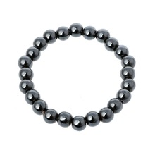 ZRLOWR Weight Loss Round Black Stone Magnetic Therapy Bracelet Health Care Biomagnetism