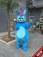 Синий Волшебный кролик Маскоты костюм костюмы для взрослых Рождество Хэллоуин наряд Необычные платья Костюм Бесплатная доставка Реальное