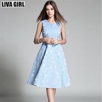 Liva فتاة نوعية الأزياء الاتجاه الحلو سيدة اللباس المرأة أكمام الأزهار المطبوعة المشاهير حزب فساتين الكرة ثوب طويل