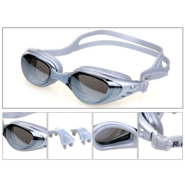 b5586644c7 Anti-Fog Swim Goggles Swimming Glasses Adjustable UV Protection Children  Kids Adult Swimming Goggles Eyeglasses with Box