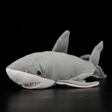 40~54cm Lifelike Great White Shark Stuffed Toy Soft Shark Real Life Plush Toys Simulation Ocean Animal Toy Christmas Gift Kids(China)