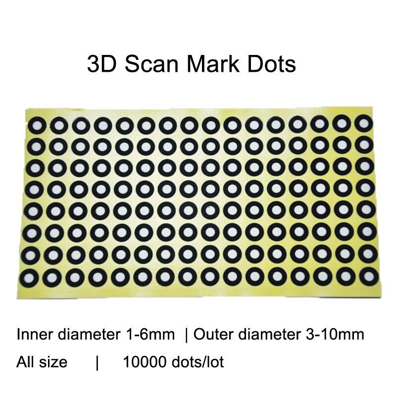 3D Scan Marking Points Gauge Point Identifying Label Dot Positioning Targets