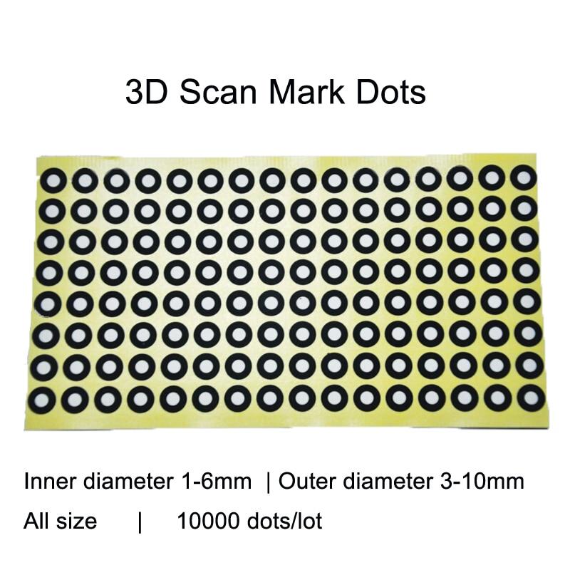 3D Scan Marking Points Gauge Point Identifying Label Dot Positioning Targets