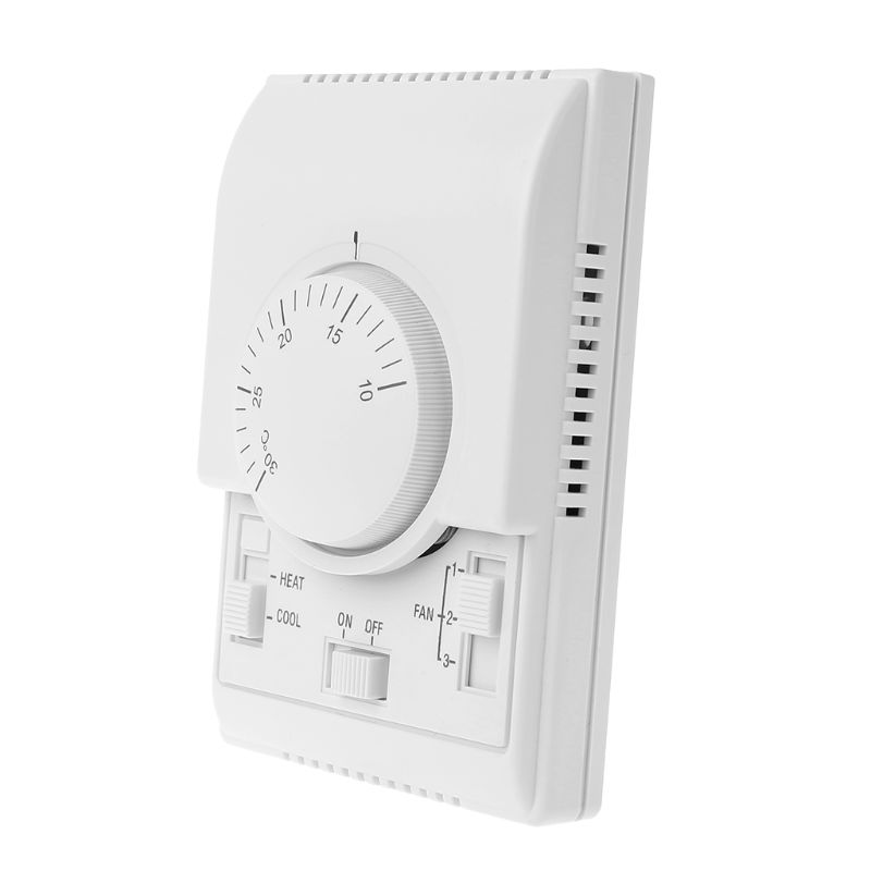 Sala Termostato Mecânico ar Condicionado Ventilador Bobina Tempertaure Controlador Quente ac 220 v