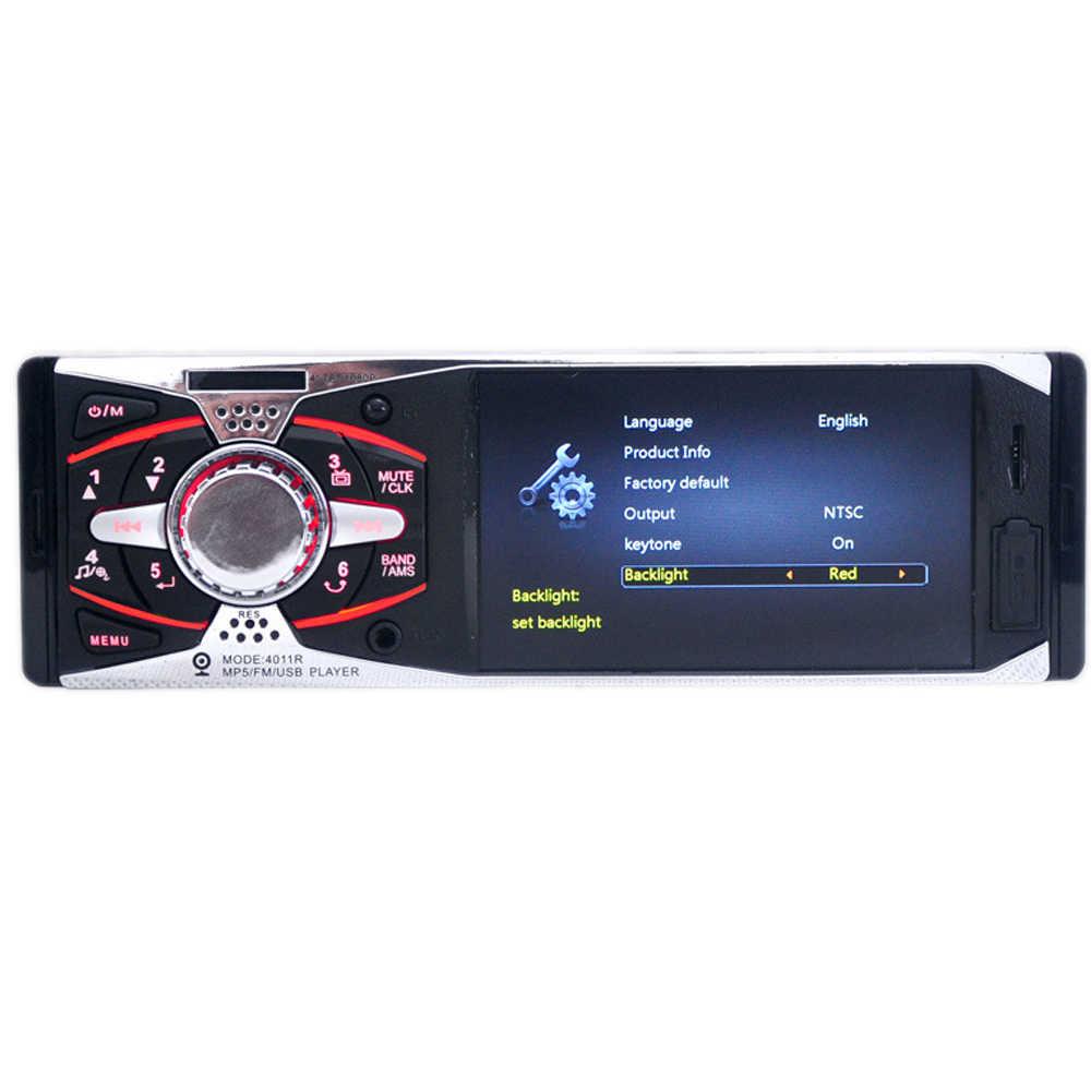 """Autoradio ラジオカセットプレーヤー 1Din 4.1 """"TFT HD 12 12v 車ラジオ USB SD AUX + カメラ MP3/ MP5/FM ステレオミラーリンク android"""