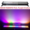2017 New 48x3W RGBWYPOP 8 Colors Led Wall Wash Landscape Line Bar Light DMX512 Indoor LED Flood Down Lighting DJ DMX Disco Club