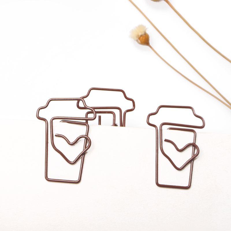 Coffee Cup Shaped Paper Clip Creative Paperclip Bookmark Coffee Metal Paper Clip Planner Clips Paperclips Paper Clips Decorative