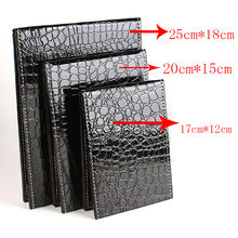 3 different colors & size Makeup Mirror Alligator Pattern Portable Foldable with PU Leather Cosmetic Women Beauty