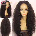 180 Density Thick Kinky Curly Human Hair Full Lace Wig Peruvian Virgin Hair Glueless Lace Front Human Hair Wigs For Black Women