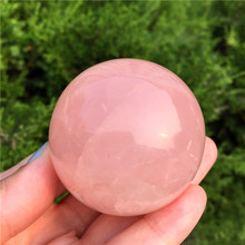 40-50mm Pink Rose Powder Crystal Quartz Natural Crystal Sphere Ball Healing Stone Home Decoration Lovers Gifts