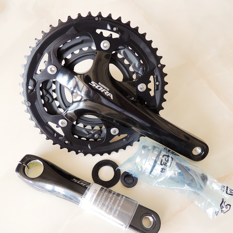 SHIMANO SORA 3503 3 Disc Front Chainwheel Crank 50T 39T 30T Chainring 170cm Cranks For City Road Bicycle Folding Bike Crankset taiwan ota 60t bicycle crankset aluminum alloy road dead fly bike chainwheel ultralight bike cycling chainring bike cranks parts