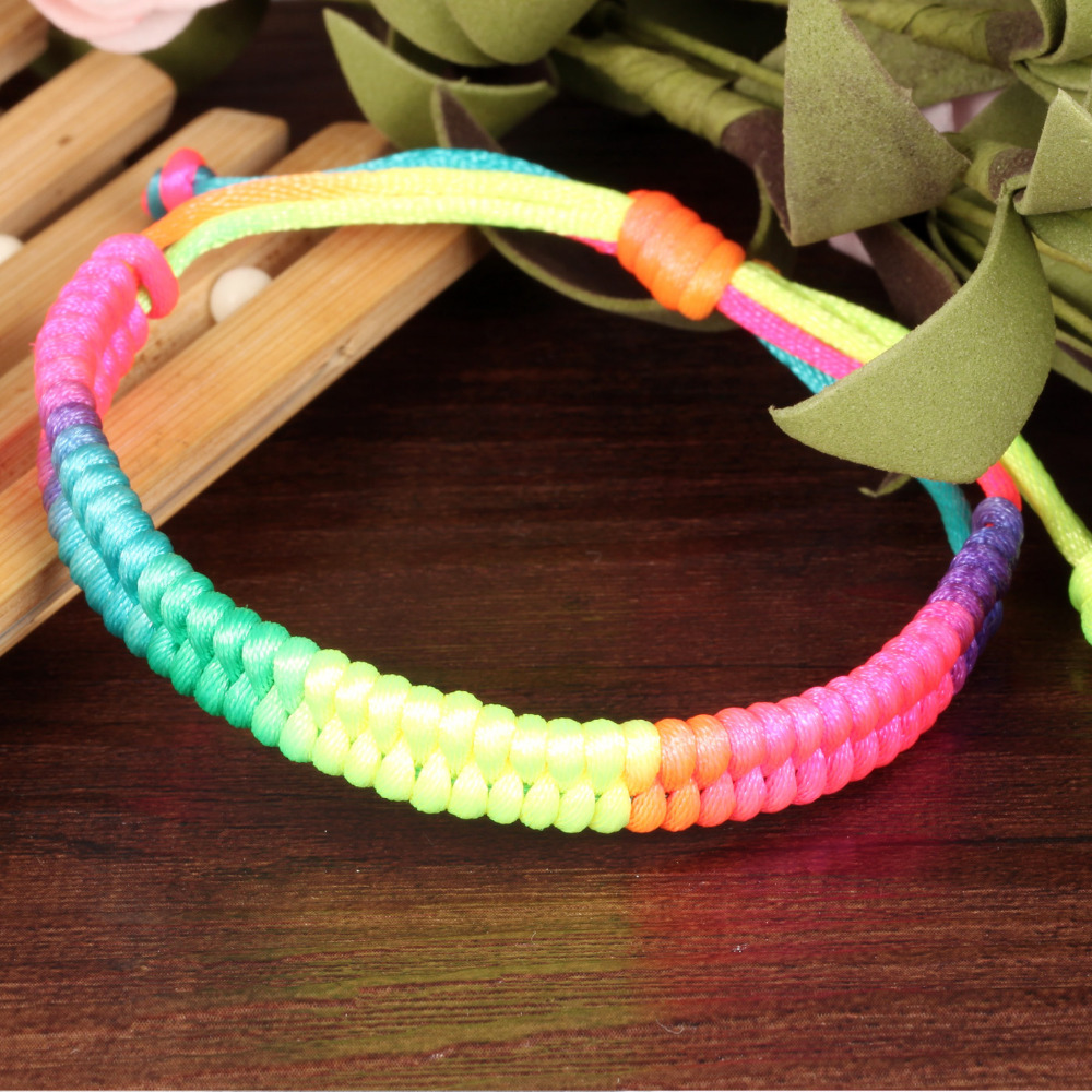 Ol Style Colorful String Bracelet Wedding Gifts For Bridesmaids Red