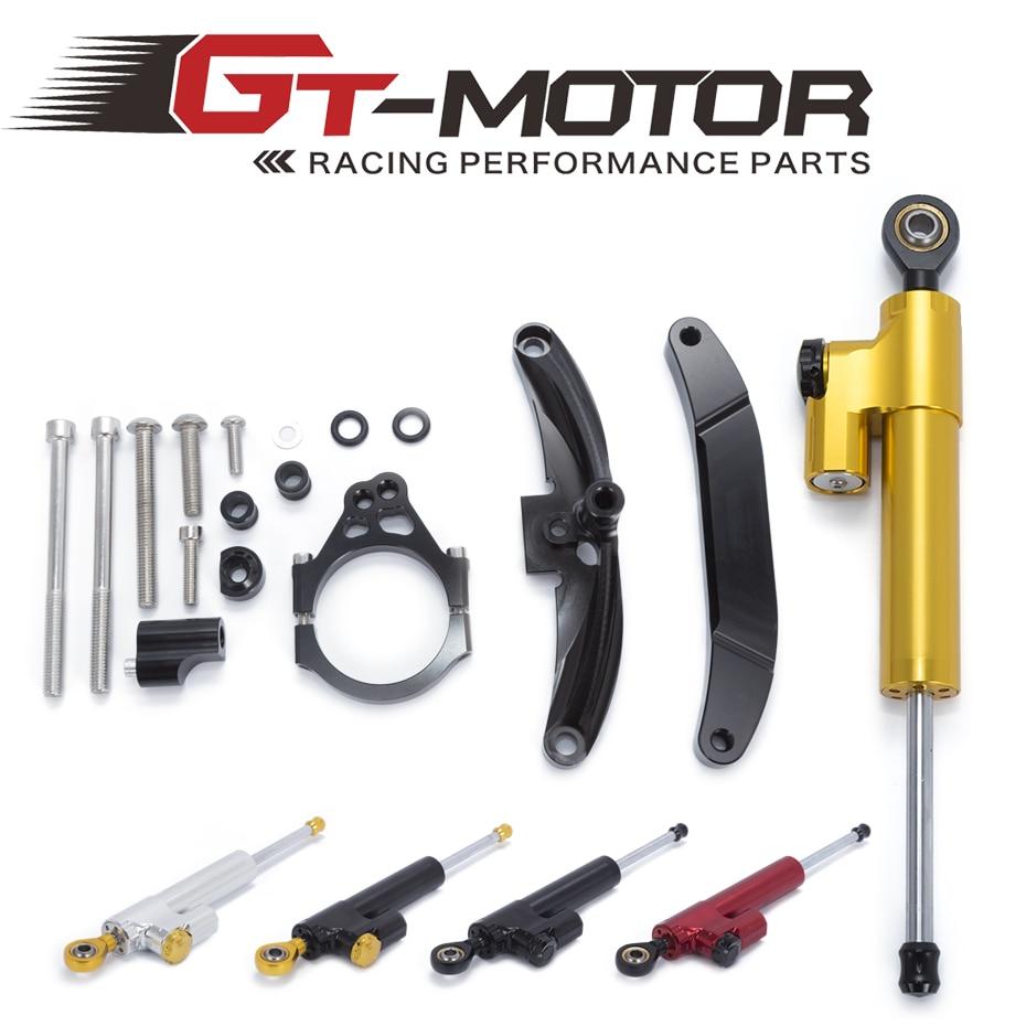 GT Motor Motorcycle CNC Damper Steering StabilizerLinear Reversed Safety Control Bracket For Yamaha FZ1 FAZER 2006