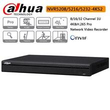 Оригинал Dahua 8CH 16CH 32CH NVR5208-4KS2 NVR5216-4KS2 NVR5232-4KS2 H.265 Pro Сетевой Видео Регистраторы до 12MP распознавания лиц