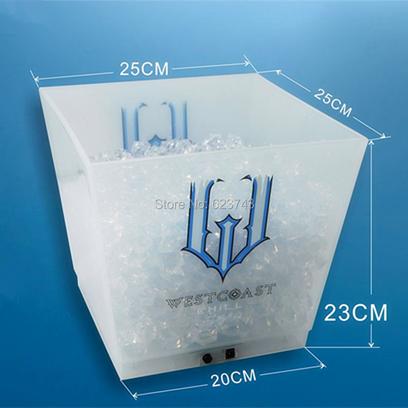 large capacity 12L cube rechargeable led ice bucket 1