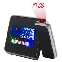 1Pc 2017 Home Use Digital LCD Screen Weather Station Forecast Calendar Projector Alarm Clock