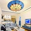 Bohemia West Mediterranean Tiffany Ceiling Lamps Cover The Living Room Study Bedroom Lamp Simple Aegean Sea
