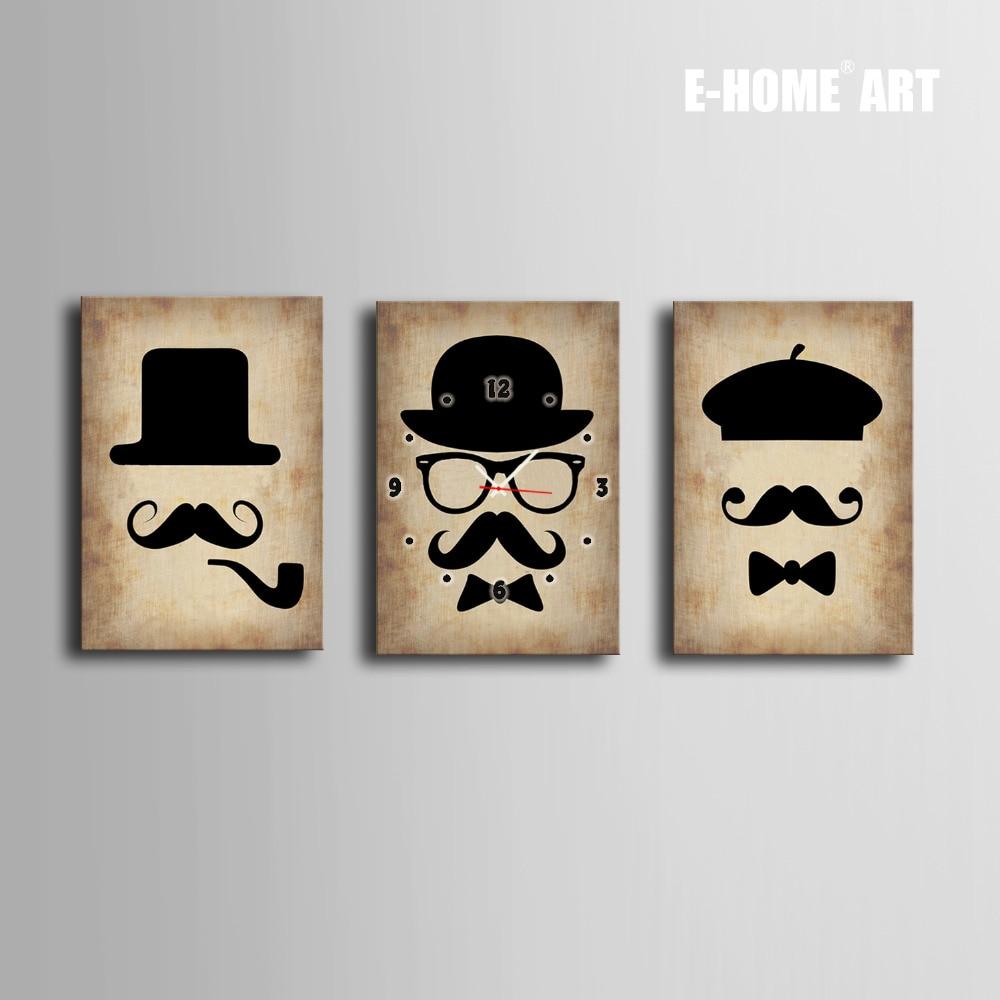 ღ Ƹ̵̡Ӝ̵̨̄Ʒ ღEnvío libre E-HOME sombrero barba reloj en lona 3 ...