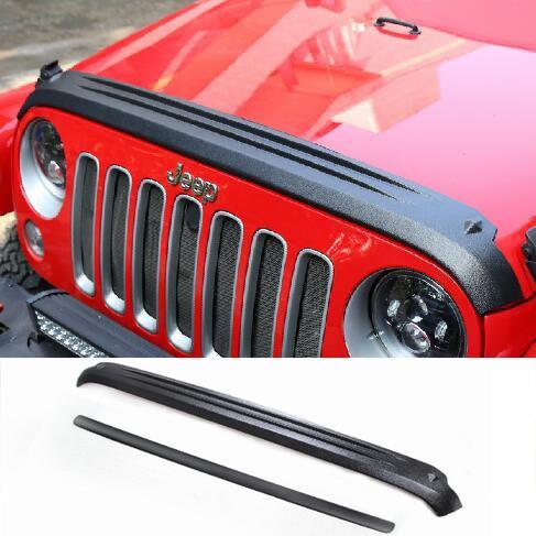 Chrome Front Head Light Lamp Cover Trim for 07-17 Jeep Wrangler 2pcs
