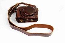 Черный/Коричневый/Кофе Цифровая Камера Кожаный Чехол для Fujifilm X70 Fuji X-70 Камера Случае Зарядки Непосредственно