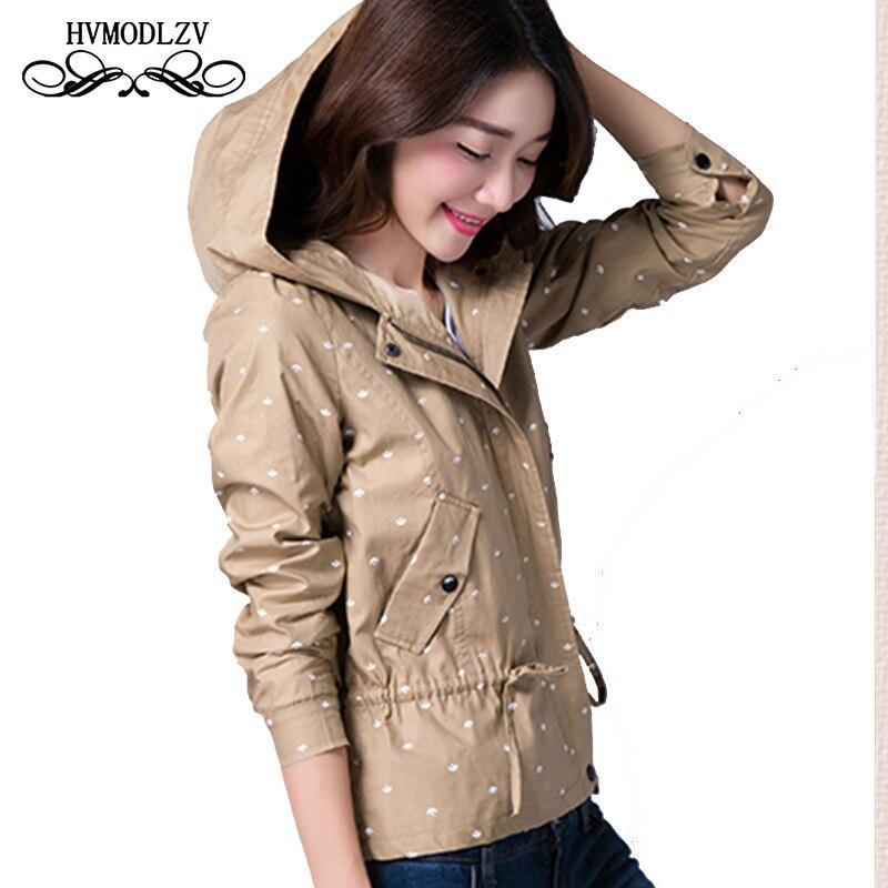 Autumn Winter Women Jacket 2017 Plus size Short Cotton Bomber Jacket Printed Hooded Thin Coat Woman Casaco feminino LJ487