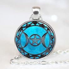 Star Moon Pendant Anime Space Pendant Galaxy Women Jewelry Necklace Friend Gift @M23