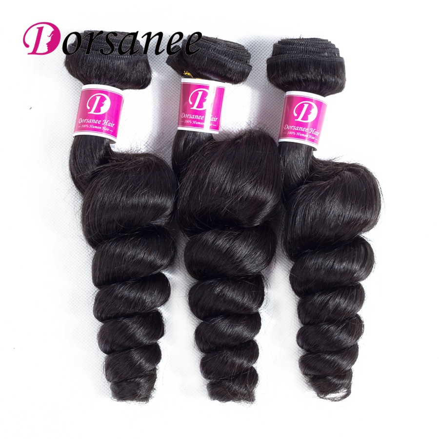 Dorsanee Brazilian Hair Bundles Loose Wave 8-26inch Non Remy Brazilian Curly Hair Loose  ...