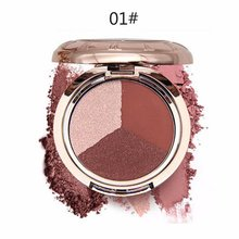 Lazy 3 Color Eye Shadow Double Gradation Long Lasting Matte Eyeshadow