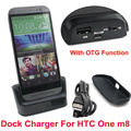USB Data Sync Charging Cradle Dock Station for HTC ONE M8 With OTG Function