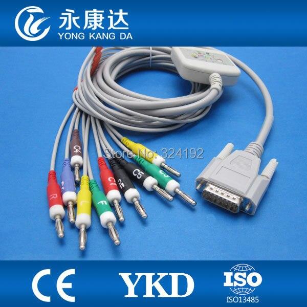 Nouvelle banane 4.0 fin NIHON KOHDEN EKG câble 10 fils de plomb IEC, pas de norme de résistance