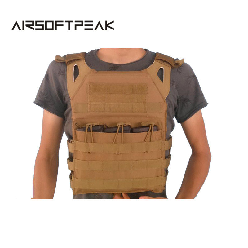 Military Tactical Plate Carrier Ammo Chest Rig JPC Vest Airsoftsports Paintball Gear Body Armor Hunting Vest wosport military hunting vest enhanced tactical 500dnylon molle jpc shooting game body armor rig plate carrier airsoft paintball