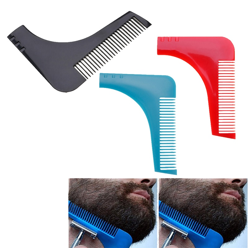 1pcs Men Gentleman Facial Hair Beard Shaper Guide Template Combs Styling Accessories Trim Shaping Tool Lines Symmetry
