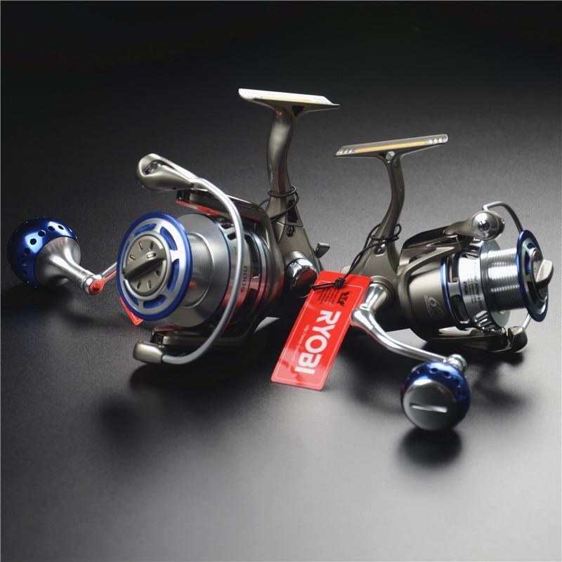 цена на RYOBI sea fishing king full metal spinning wheel 4000/6000 model 6+1BB boat fishing reel fishing tackle