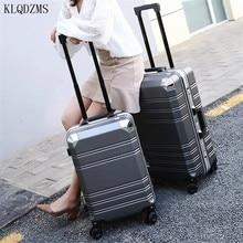 Travel-Suitcase 24inch Trolleys Wheeled Retro Luggage Fashionable-Bag KLQDZMS PC