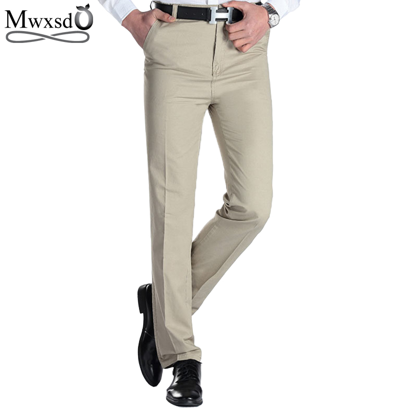 2018 Mens Casual pants brand Men thin long dress pants Straight Business Casual male Pants Leisure Long Trousers