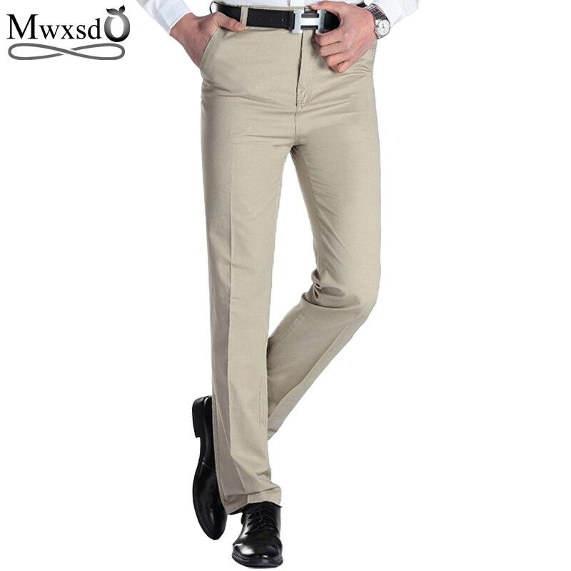 2019 Men's Casual pants brand Men thin long dress pants Straight Business Casual male Pants Leisure Long Trousers