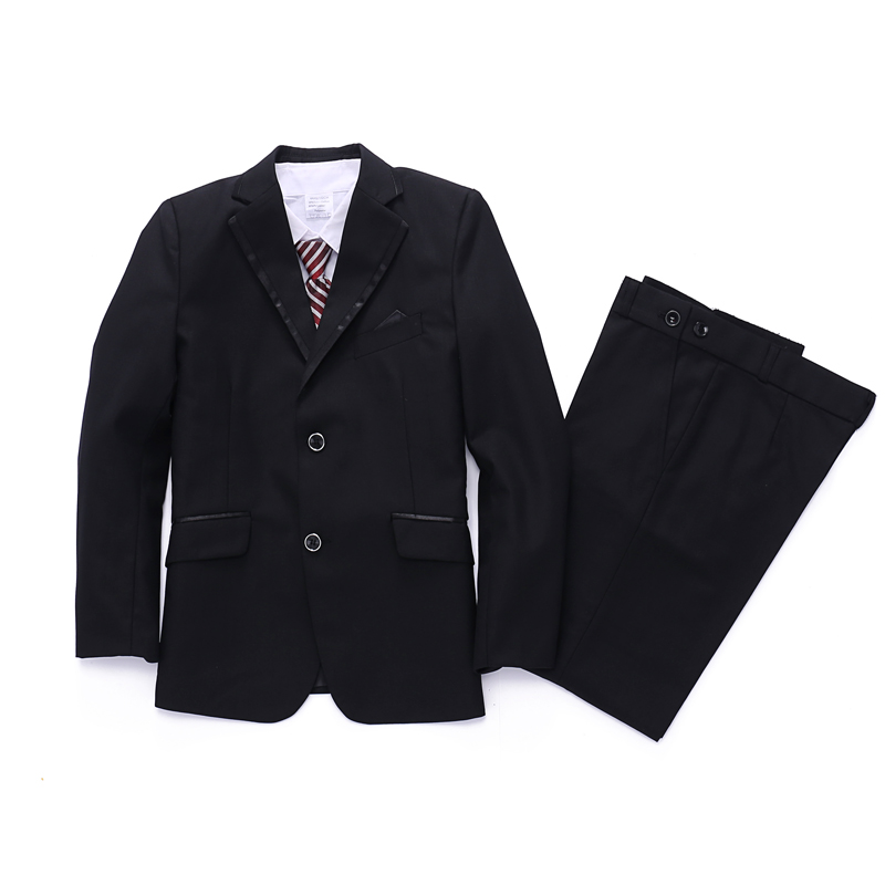 Boys Black Tuxedo suit 2-15Years Formal Attire Jacket Vest Shirt Tie and Trouser 5PCS Suits for Weddings Kids Clothes altamont salman shirt jacket black