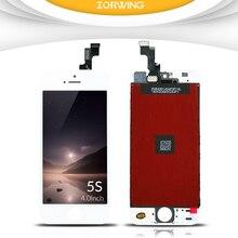 Получить скидку 100% без битых пикселей ЖК-дисплей Экран для iPhone 5S ЖК-дисплей Дисплей с планшета Сенсорный экран Замена Ассамблея завершить черный, белый цвет