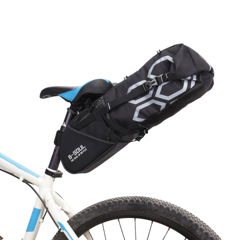 12L Outdoor Large Bike Saddle Bag MTB Seat Tail Rear Pack Cycling Bicycle Riding