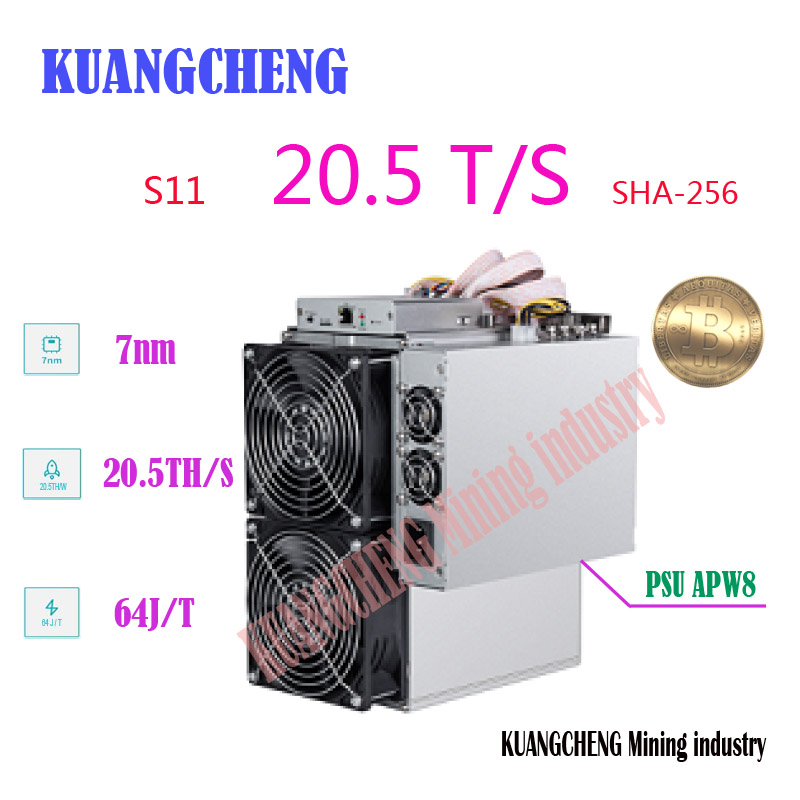 Used Old BITMAIN AntMiner S11 20.5T 16nm BTC SHA-256 Miner Better Than T9 S9 S9j S15 T15 Z9 Mini WhatsMiner M10 M3 Avalon 921