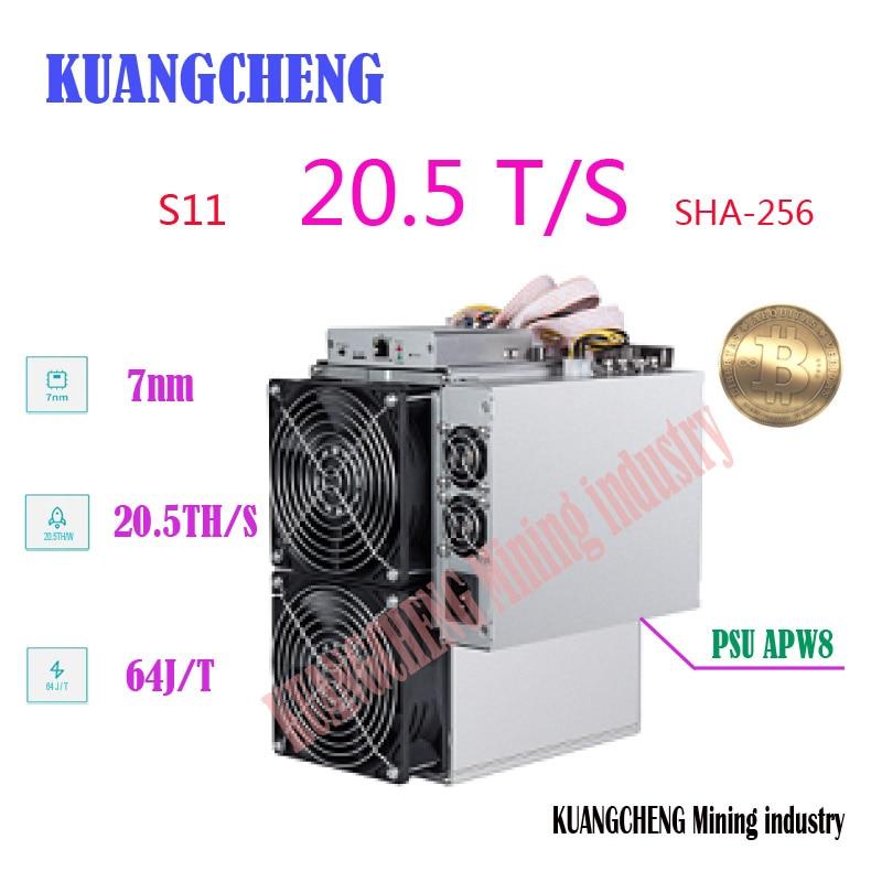 Used Old BITMAIN AntMiner S11 20.5T 16nm BTC SHA-256 Miner Better Than T9 S9 S9j S15 T15 Z9 Mini WhatsMiner M10 M3 Avalon 921