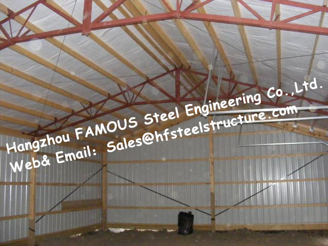Chicken Poultry Shed  Steel Construction And Animal Farm Building Steel Cow Shade Supplied By China Contractor