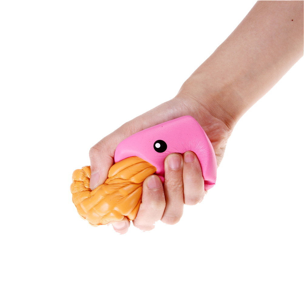 Bag Parts & Accessories Kawaii Scented Stretchy Toy Soft Cute Simulation Bread Donut Squishy Slow Rising Squeeze Bag Accessories &ornament
