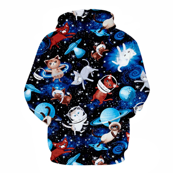 Galaxy Cat 3D Printed Brand Casual Hoody Sweatshirt Men Tracksuit Hoodie Pullover Streetwear Coat Unisex DropShip ZOOTOPBEAR New 1