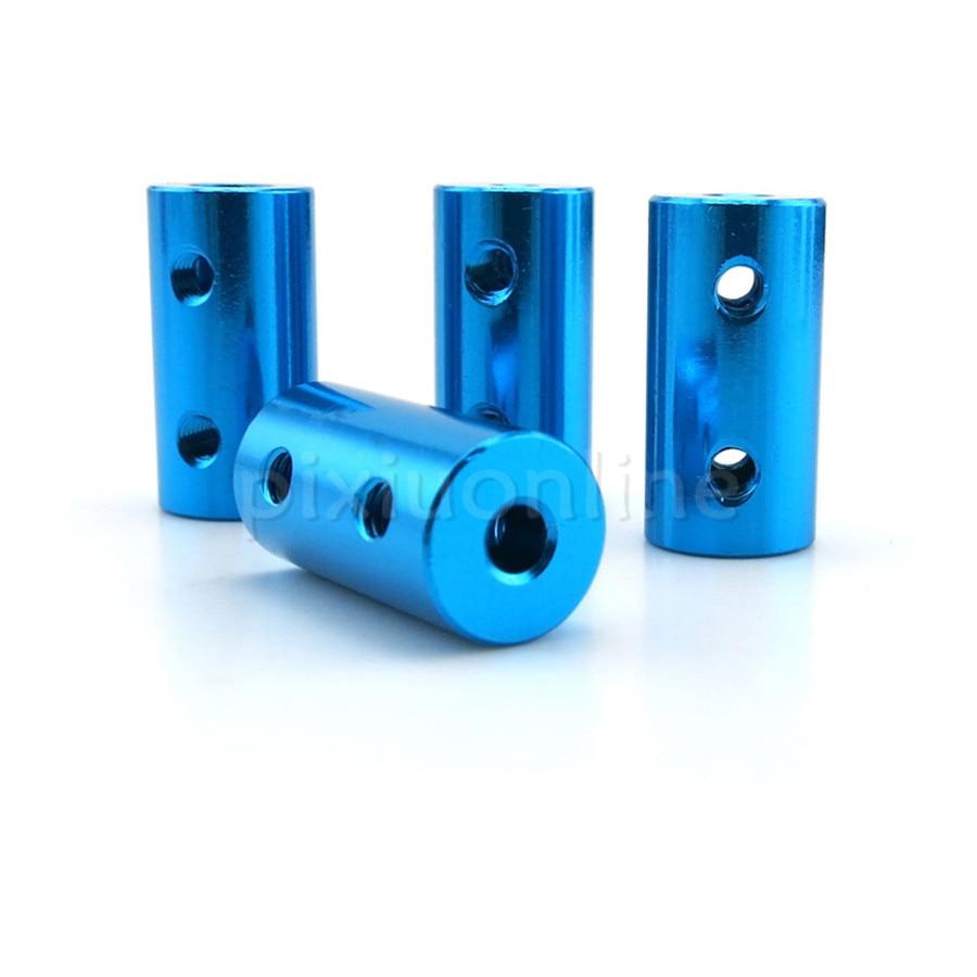 J394b Blue Aluminum alloy Couplings 10*20mm Multi Standard Metal Coupler Wonderful DIY Model Car Connecting Parts Sell at a Loss